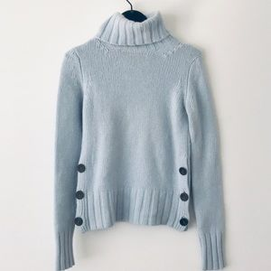 FRENCH CONNECTION Powder Blue Chunky Turtleneck XS